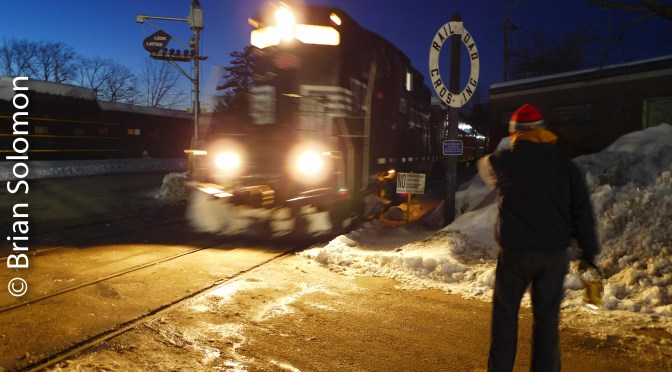 Snow Train Arriving.