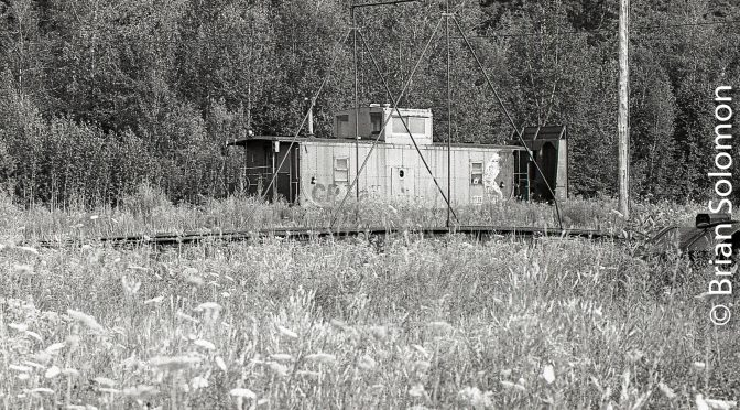 Caboose in the Weeds—Newport, Vermont.