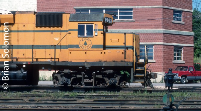 Maine Central GP38 255—Bangor, Maine.