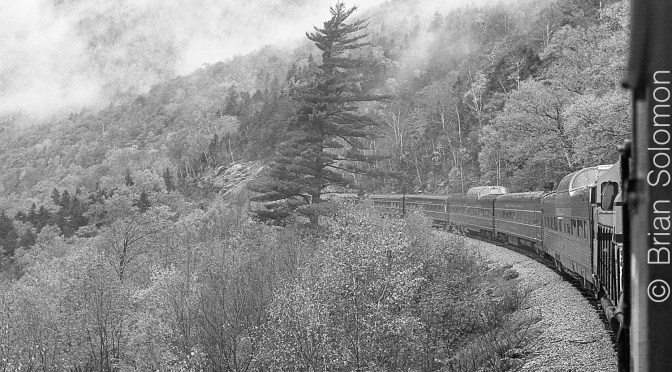 Misty October View on Crawford Notch