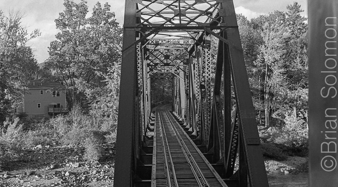 Saco River Bridge Monochrome.