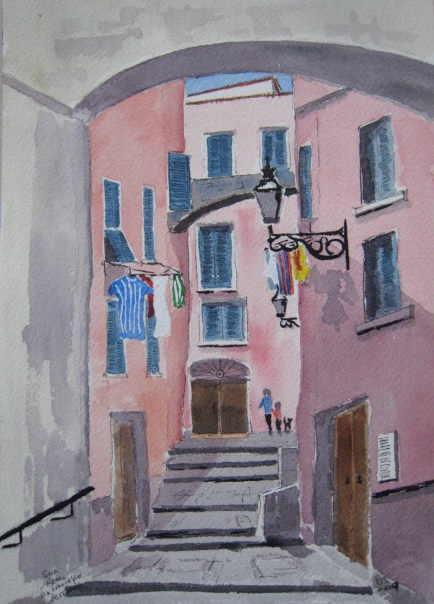 In the old town of San Remo