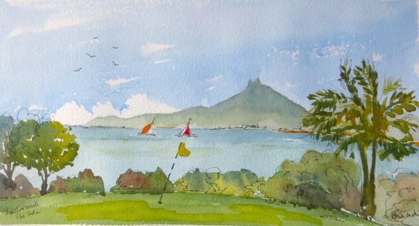 The 11th hole at Le Tousserok, Mauritius