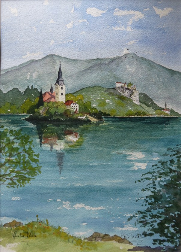 Lake Bled . The first watercolour.
