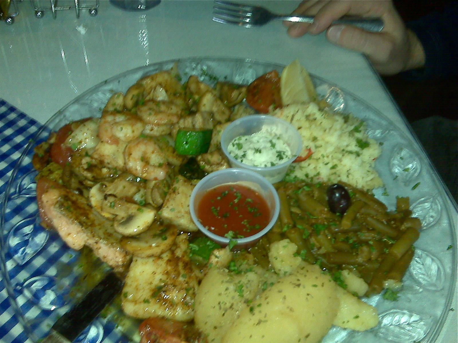Fish Kabob Platter