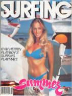 Surfing Magazine, 1982, depicting a Playboy model as a surfer. The swisuits issues closey followed