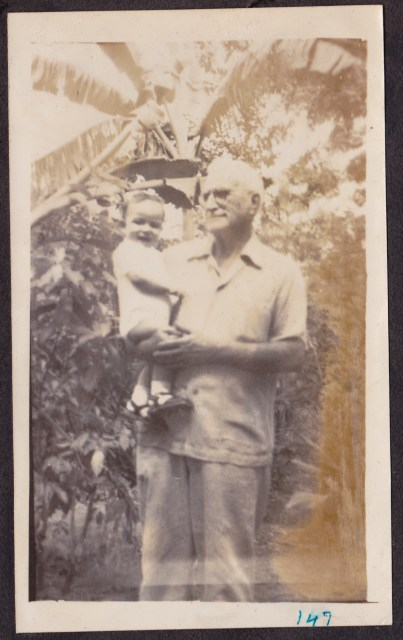 Grandfather with youngest son Freddy, 1947