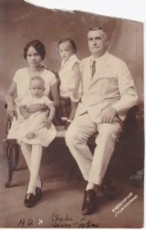 My grandparents with my uncles, 1928