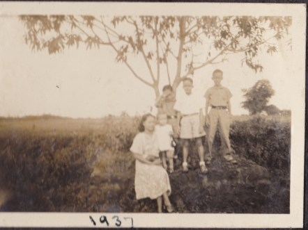 My grandmother with my uncles and aunt, 1937