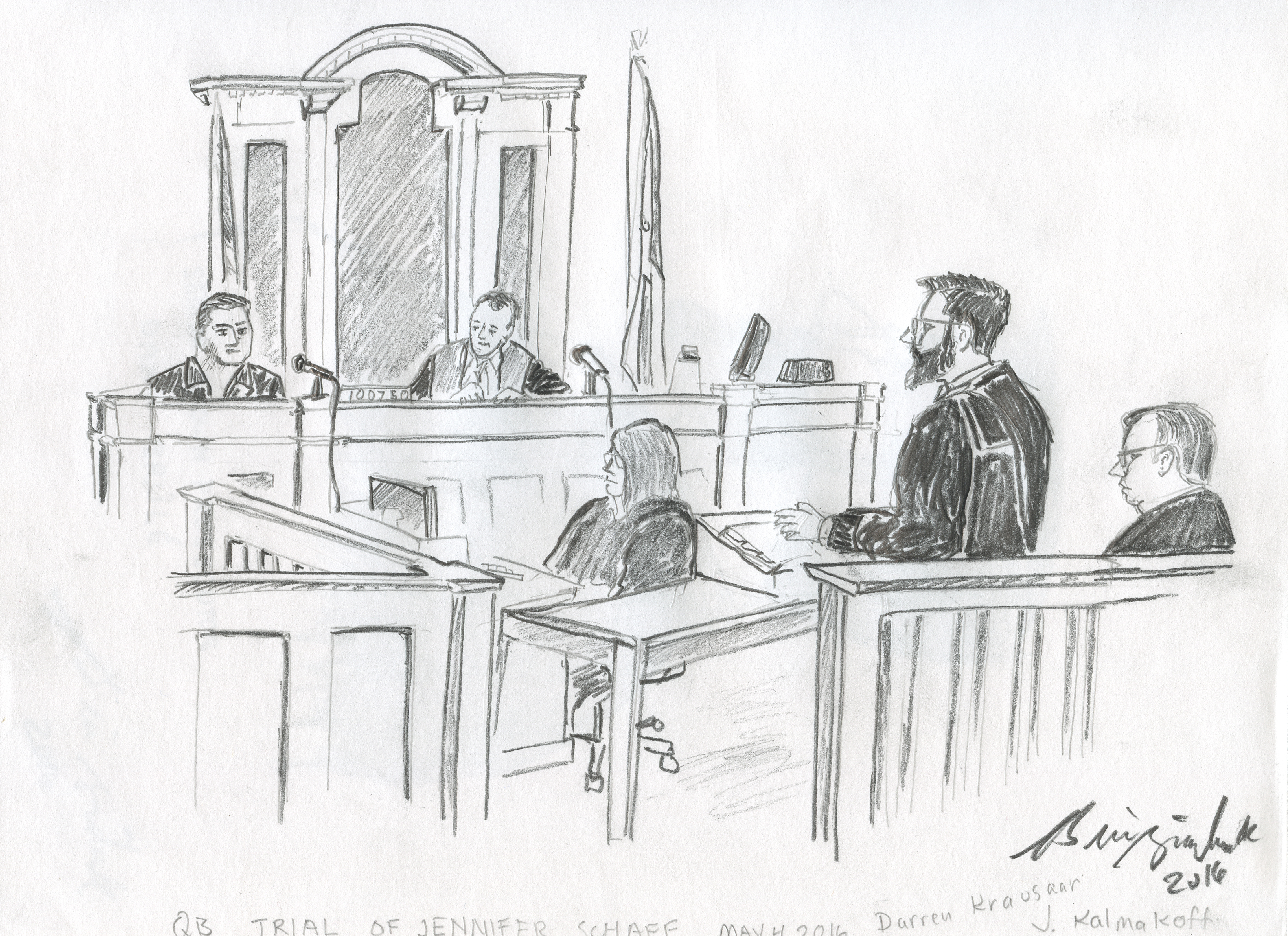 First Courtroom Sketches In 8 Years