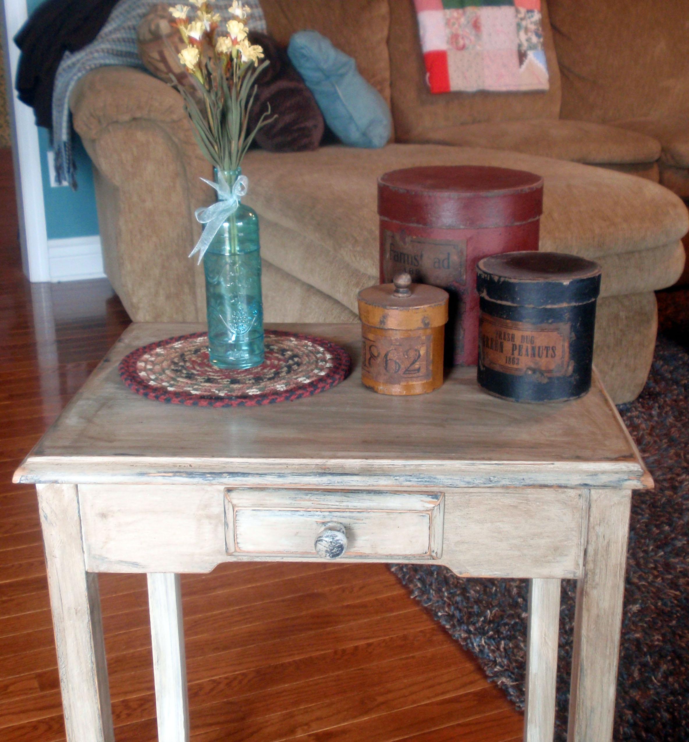 country primitive sofa tables sleeper london ontario side table makeover briarpatchprim 39s weblog