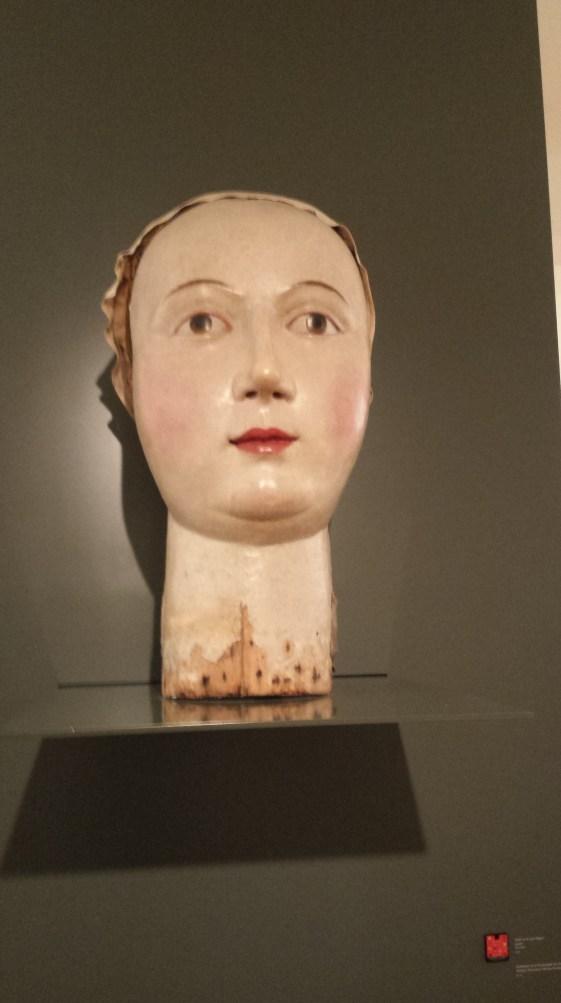 Giant head from street fairs, Museum M in Leuven, Belgium