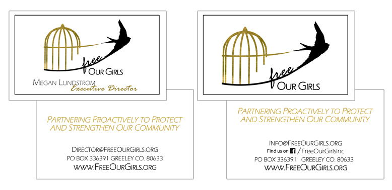 Free Our Girls business card designs