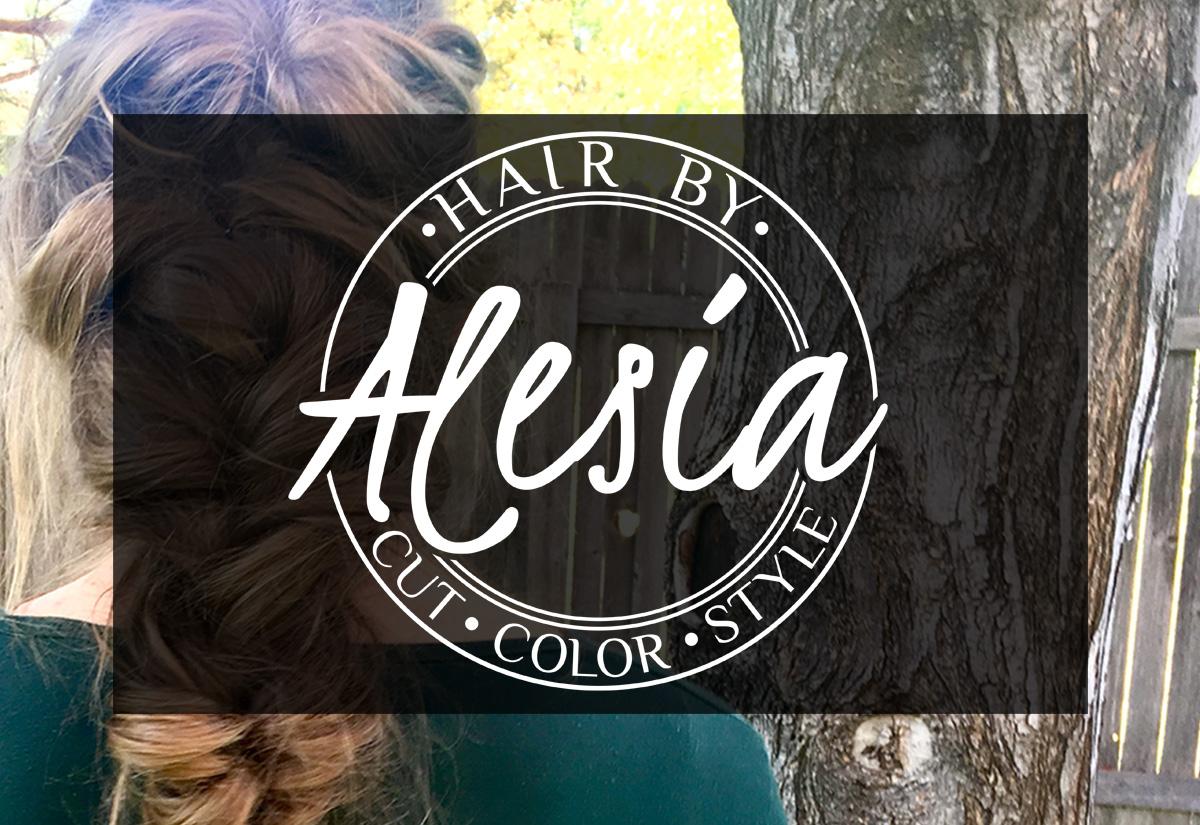 Hair by Alesia Hair Stylist Logo Design