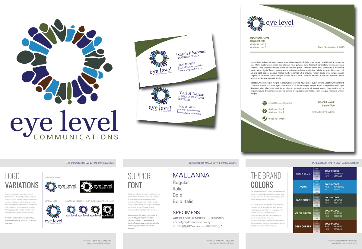 Eye Level Communications Logo Design & Brand Suite