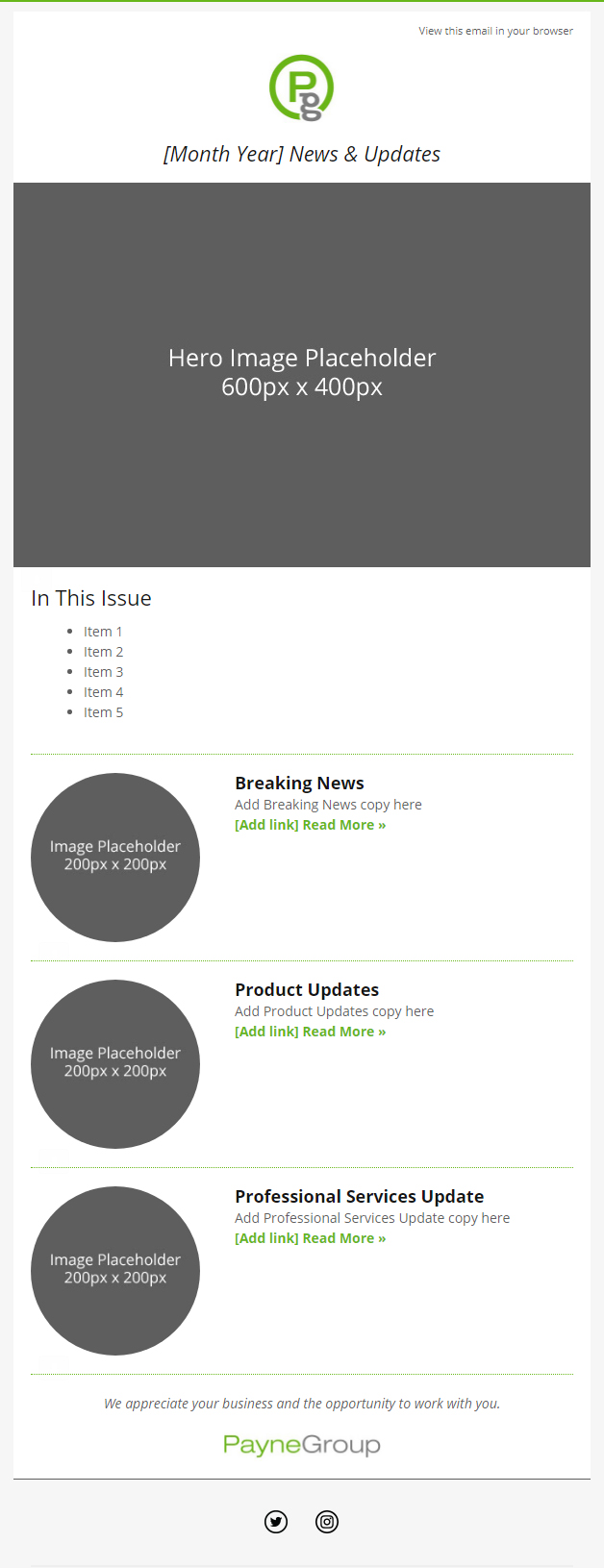 PayneGroup Responsive Email Design