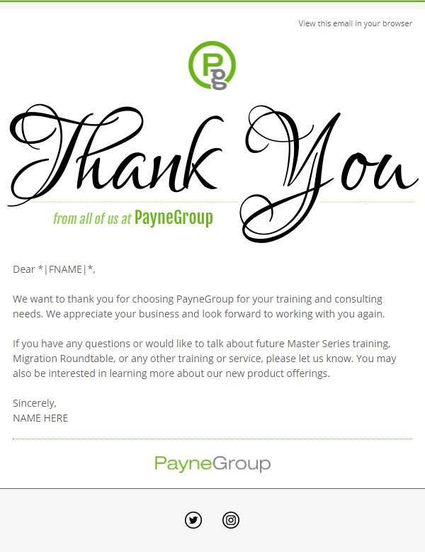 PayneGroup Thank You