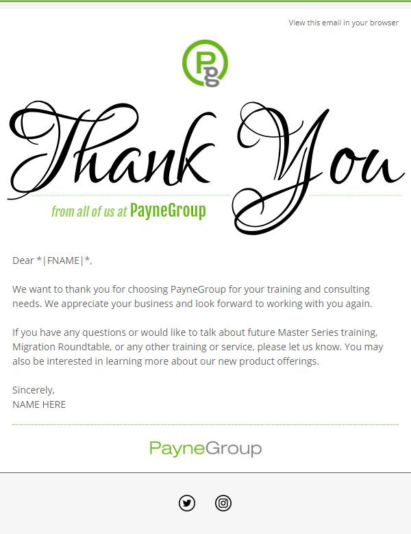 PayneGroup Thank You