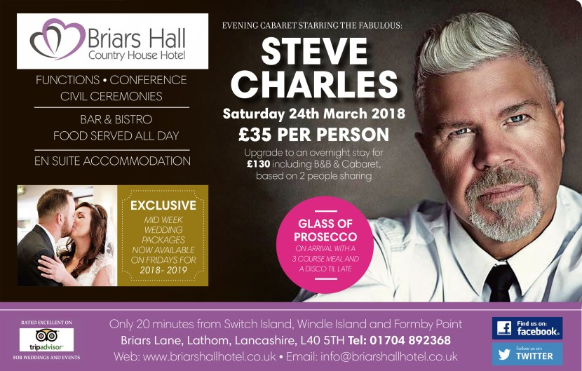 steve charles 24th march 2018 briars hall hotel