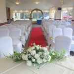 wedding chapel floral chairs briars hall hotel