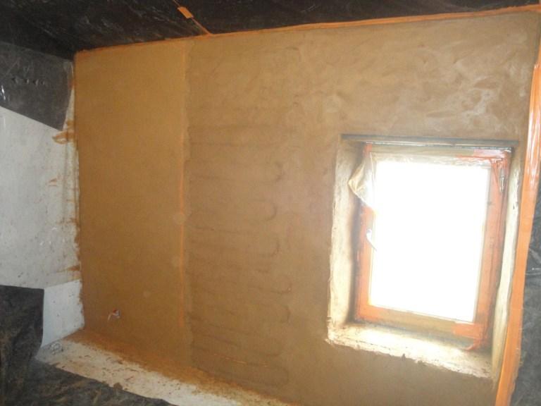 Mur chauffant enduit chaux-chanvre