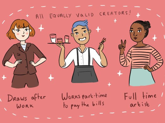 You are no less of a creator for working a full-time day job.