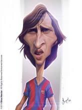Caricature de Johan Cruyff