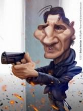 Caricature de Liam Neeson
