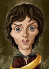 Caricature de Elijah Wood