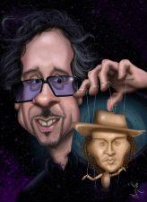 Caricature de Tim Burton