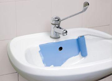 Pittura per piastrelle bagno opinioni bello pittura per bagni