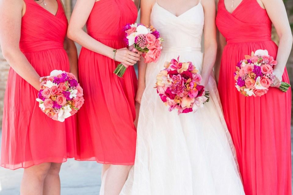 Coral Bridesmaids | Wedding Hair | Bri Cibene Photography | www.bricibene.com