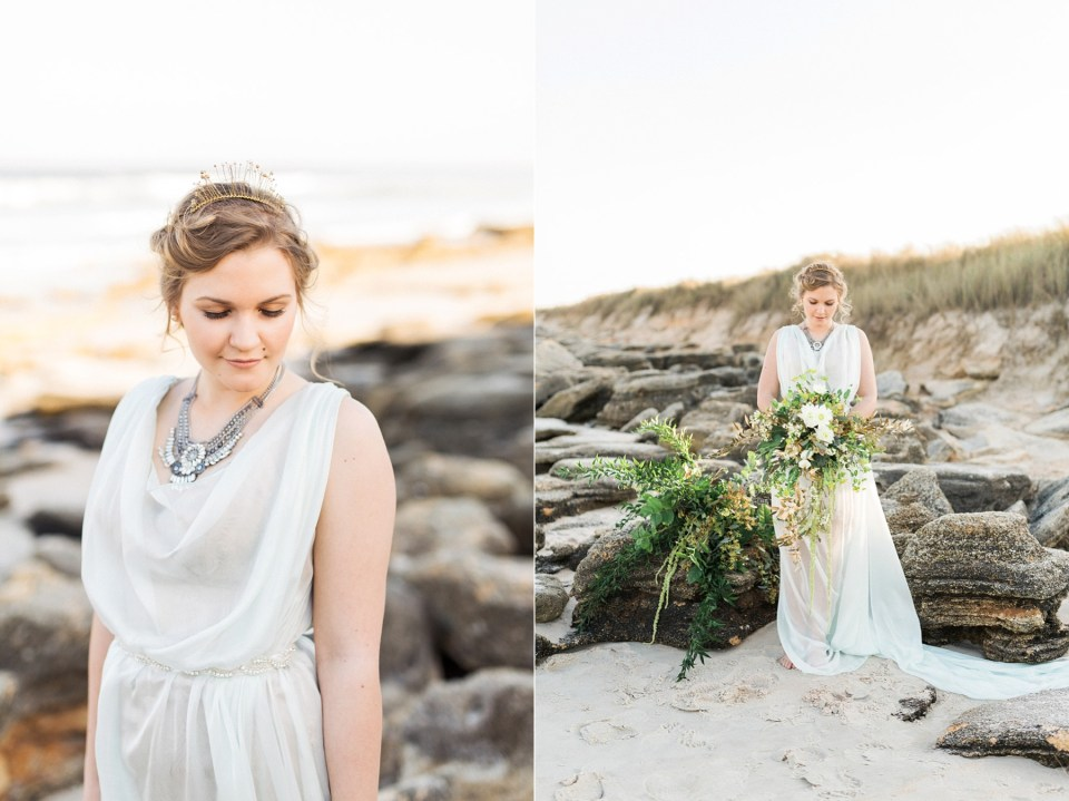 Bride| Seafoam Wedding Dress | Mermaid Inspired Beside the Sea Wedding Shoot | www.bricibene.com