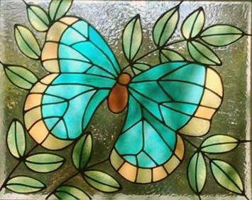 vetrata-raffigurante-butterfly