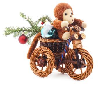 scimmia-del-giocattolo-su-una-bicicletta