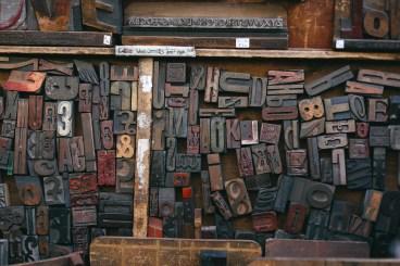 caratteri di legno