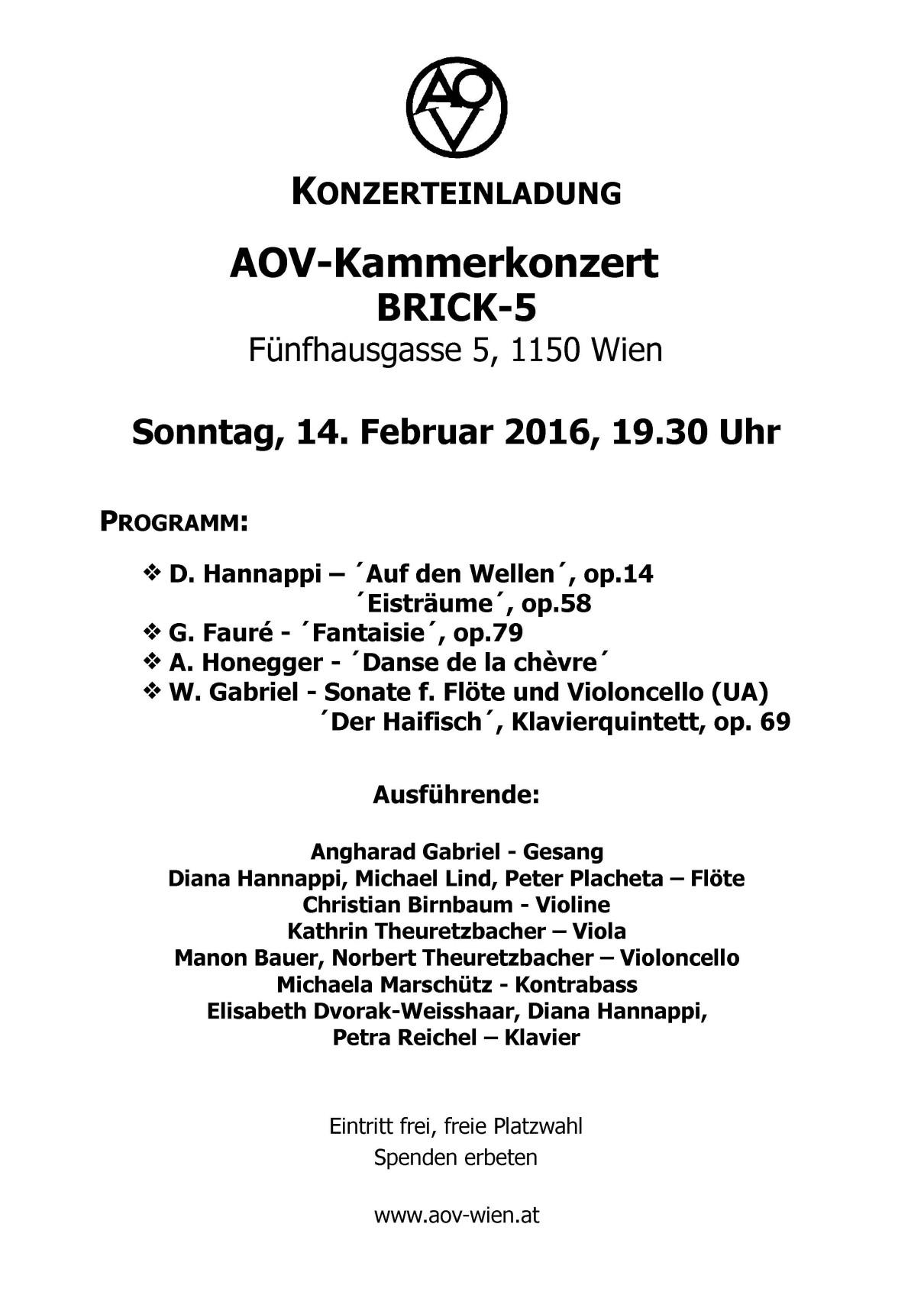 """""""Kammerkonzert"""" - Akademischer Orchesterverein in Wien"""