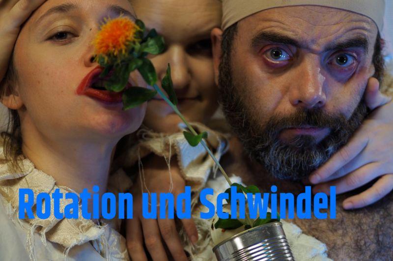 Theaterperformance Rotation und Schwindel