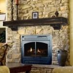 Rustic Pine Wood Fireplace Mantel Shelf Brick Anew