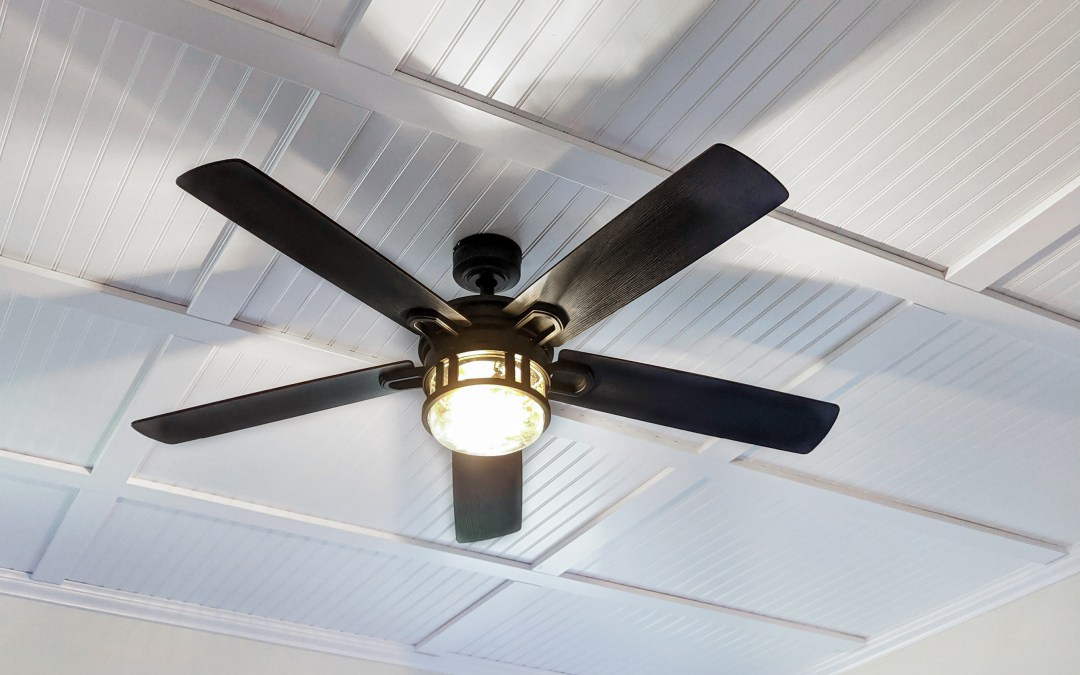 Cover up your ugly popcorn ceilings with this affordable DIY coffered ceiling installation