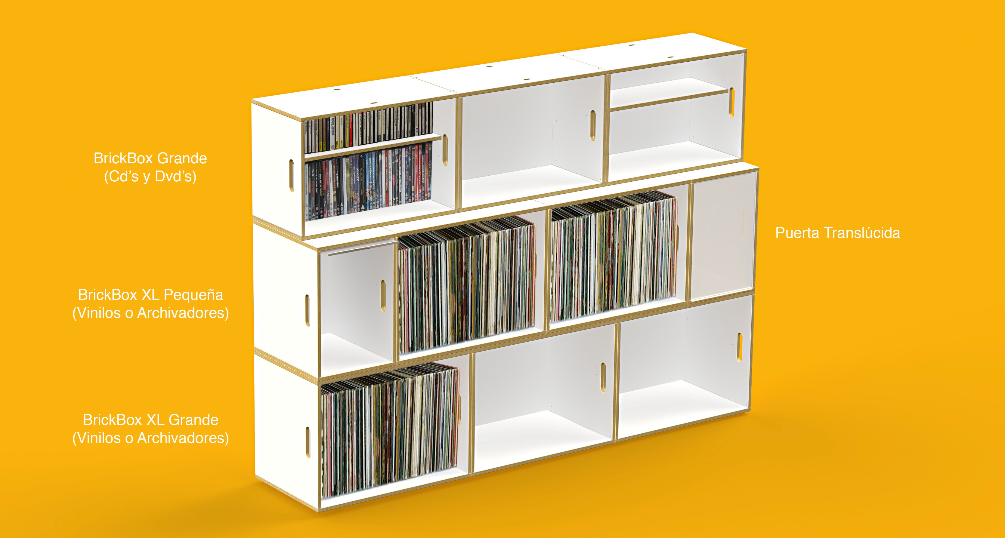 Muebles Para Cd Qué Son Los Módulos Brickbox Xl Brickbox Estanterias