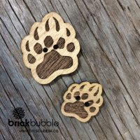 Bear Print – button
