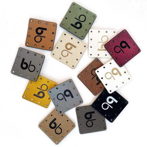 mini patches faux leather tags