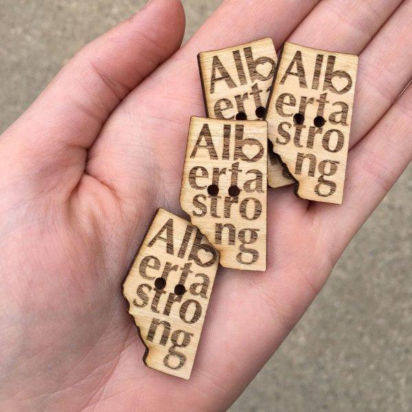 Alberta Strong Button