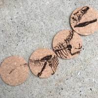 Dino Bones — coasters