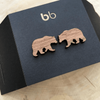 Bear Silhouette Earrings