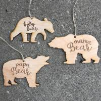 Bear Family Ornaments