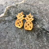 Mirrored Gold Pineapple Earrings