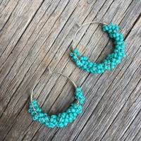 Clustered Turquoise Hoops
