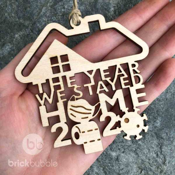 the year we stayed home, covid ornament